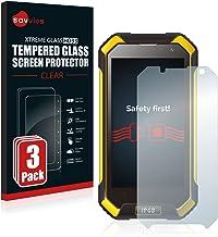 savvies Cristal Templado Compatible con Blackview BV6000 / BV6000s (3 Unidades) Protector Pantalla Vidrio Proteccion 9H Pelicula Anti-Huellas