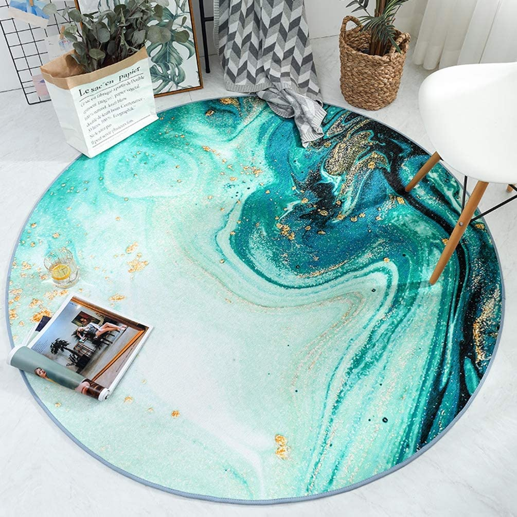 Ocean Credence Beach Theme Round Area Ma Polyester Sea Waves Rug Ranking TOP15
