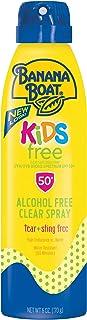Banana Boat Kids Alcohol Free, Tear Free, Sting Free, Reef Friendly Sunscreen Spray, Broad Spectrum SPF 50, 6 Ounces