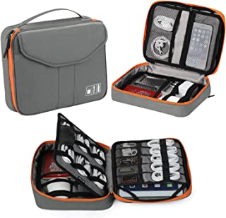 Electronic Organizer, Jelly Comb Travel Organizer Bag Electronic Accessory Cases Cable Organizer Bag Double Layer for USB ...