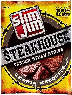 Slim Jim Steakhouse Strips, Smokin' Mesquite, 3.15-Ounce