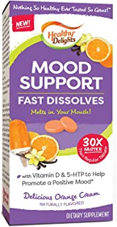 Healthy Delights, Mood Support & Enhancement, Orange Cream Flavor Fast Dissolves, Naturally Flavored, Packed with Vitamin ...