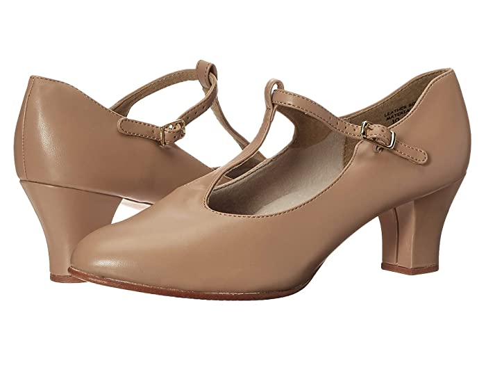 Vintage Style Shoes, Vintage Inspired Shoes Capezio Jr. Footlight T-Strap Caramel Womens Shoes $47.00 AT vintagedancer.com