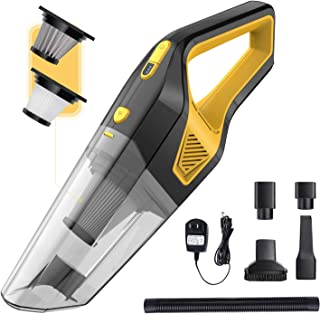 AIKON Handheld Vacuum Cordless, Portable Vacuum Cleaner, with Powerful Suction, Wet and Dry Vacuum Cleaner for Car/Home/Kitchen. (Black)