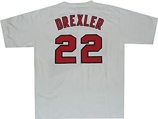 Clyde Drexler Portland Trailblazer Blanco Throwback Net Print 1989 Camiseta