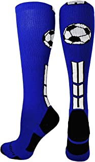 MadSportsStuff Soccer Socks with Soccer Ball Logo Over The Calf (Multiple Colors)