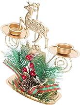 OSALADI Tealight Suporte de Vela Do Natal Com Pinha Baga Decorativo Renas Titulares Castiçal Candlestand para Casa Quarto ...