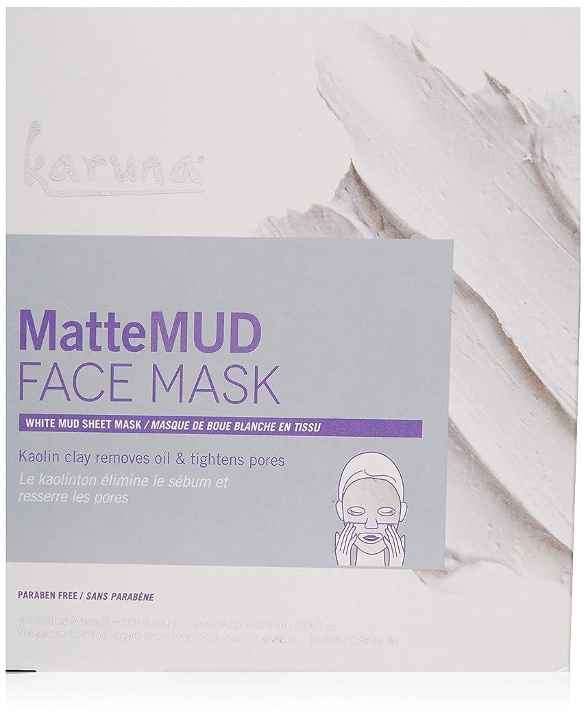 スライム直径餌Karuna MatteMud Face Mask 4sheets並行輸入品