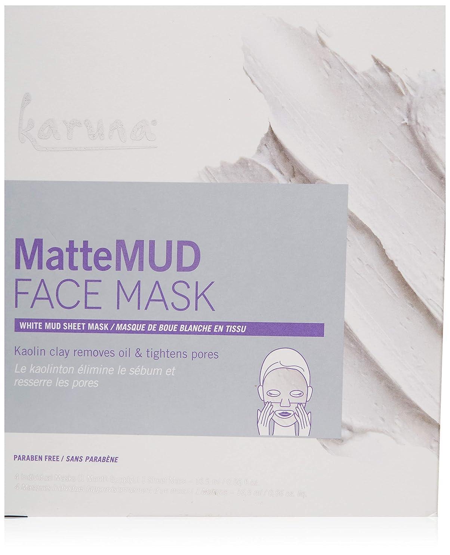 予見する山積みの方程式Karuna MatteMud Face Mask 4sheets並行輸入品