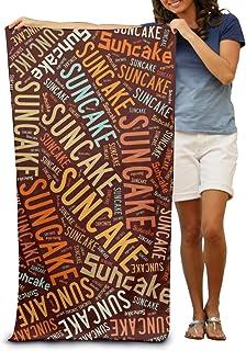ビーチバスタオル バスタオル デザート-太陽餅 レジャーバスタオル 海水浴 旅行用タオル 多用途 おしゃれ White