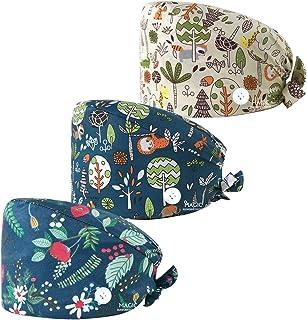 قبعات عمل منتفخة قابلة للتعديل، تصميم منتفخ مع ازرار للنساء والرجال