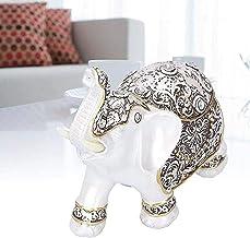Desktop Sculpture Lucky Elephant Statue Dieren Sieraden Ambachten Hars Sculptuur Home Office Decoratie Accessoires Collect...
