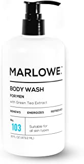 MARLOWE. No. 103 Men's Body Wash 16 oz | Energizing & Refreshing | Includes Natural Extracts | Aloe & Green...