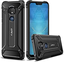 J&D Case Compatible for Moto G7 Power/G7 Supra Case, Heavy Duty [ArmorBox] [Dual Layer] Shock Resistant Hybrid Protective Rugged Case for Motorola Moto G7 Power Case – Not for Moto G7/G7 Play/G7 Plus