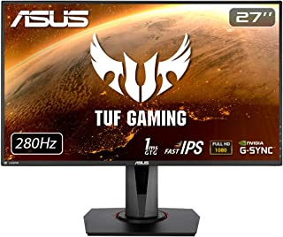 ASUS TUF Gaming VG279QM 27 inch Full HD HDR Gaming Monitor, Fast IPS, Overclockable 280Hz (Above 240Hz, 144Hz), 1ms (GTG),...