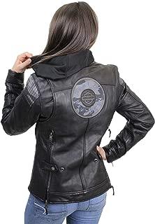 HARLEY-DAVIDSON Womens Kenova B&S Logo 3-in-1 Reflective Leather Jacket 97034-19VW