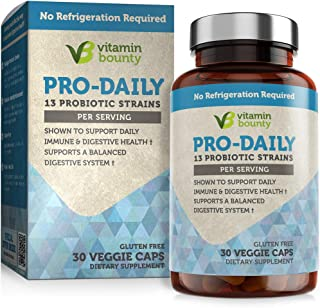 Vitamin Bounty Pro Daily Probiotic + Prebiotic - 13 Strains, Delayed Release Capsules - Including Lactobacillus acidophilu...