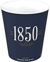 1850 By Folgers Hot Paper Cups, 12 ounces, 600 Count