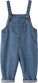 Toddler Baby Boys Girls Long Denim Bib Overalls Little Kids Soft Cotton Rugged Relaxed Fit Jumpsuits Pants (Blue,4Years)