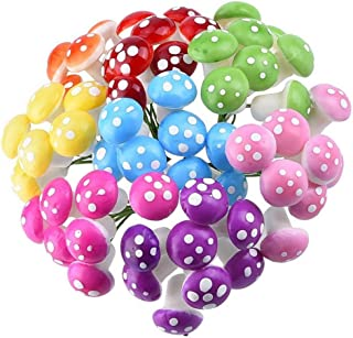 comprar comparacion iTemer - 60 adornos en miniatura de hongos para decoración de plantas de resina y bonsái, diseño de hadas, decoración de p...