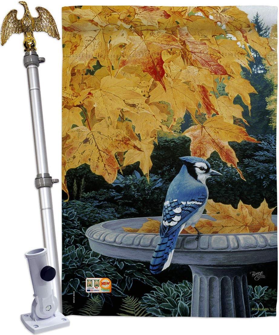 Breeze Decor Birds Attention brand Autumn Birdbath House Eagle Fees free!! F Flag Set Garden