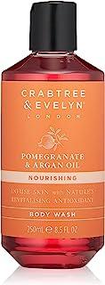 Crabtree & Evelyn Pomegranate & Argan Oil Body Wash, 8.5 Fl Oz