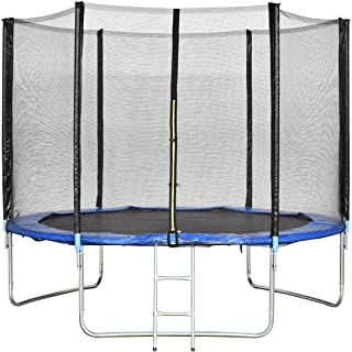 ENKLOV Trampoline, High Quality Kids Outdoor Trampolines Jump Bed With Safety Enclosure Exercise Fitness Equipment (10FT)