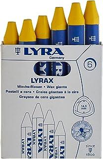 LYRAX - Cera cerata al limone, confezione da 6 gessetti