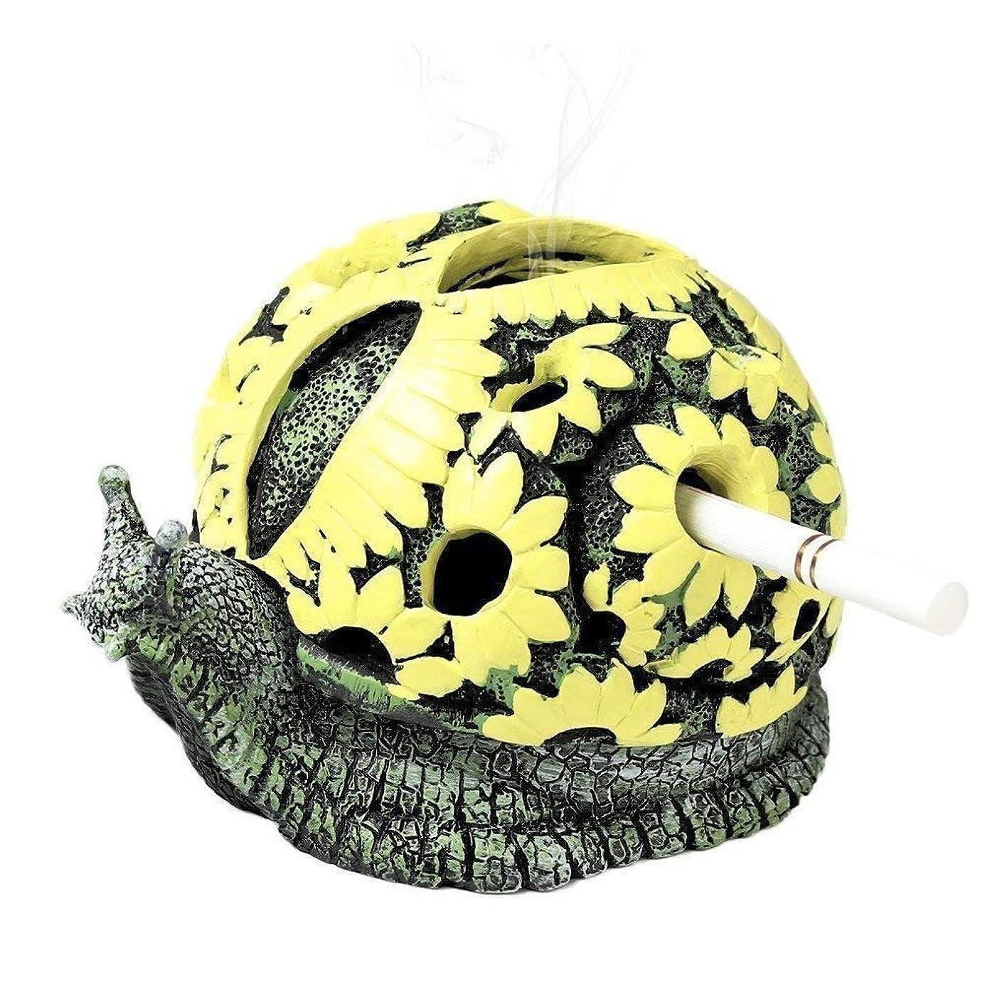 昇るマオリ後方にモンスター灰皿クリエイティブカタツムリ灰皿工芸品の装飾クリエイティブタートル灰皿 (色 : Escargot)