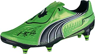 Sergio Aguero Manchester City Autographed Cleat - Fanatics Authentic Certified - Autographed Soccer Cleats