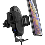 X-Doria Defense Helix Car Mount with RoboGrip, Wireless Car Charger, Air Vent Mounted, 10W Fast...