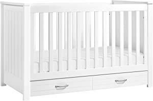 DaVinci Asher 3-in-1 Convertible Crib with Toddler Bed Conversion Kit in White | Greenguard Gold Certified