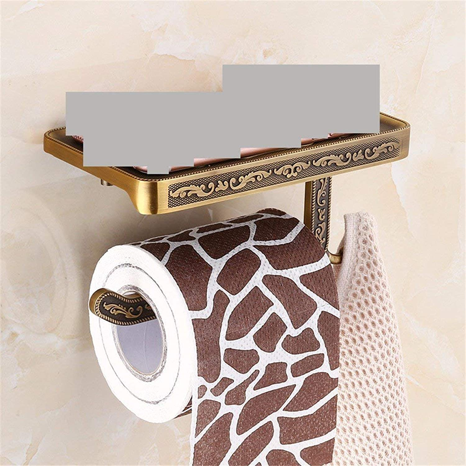 Carved from European Style Former Accessories for Baths to SEC, Function-Folding Wall-Mount Suspension Toilet Paper,B Rack