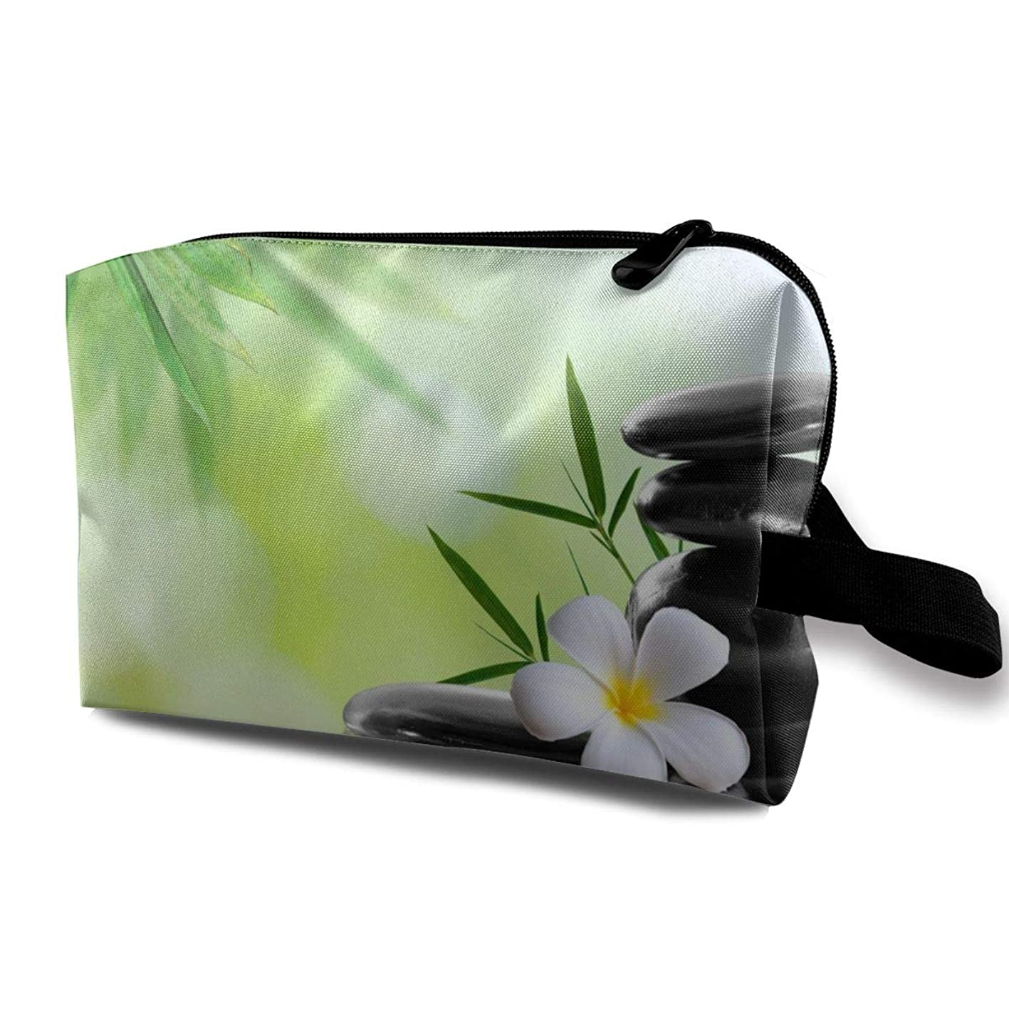 Janmhe Zoeba Spa Zen Bamboo Water Flower Portable Travel Makeup Cosmetic Bags OrganizerMultifunction Pouch Case Toiletry Bags focxbnwvjtu275