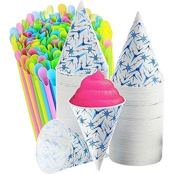 Restuarant 6oz Snow Cone Cups Quantity 200 Shaved Ice Vending NEW