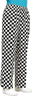 Easy Fit Unisex Chefs Chess Checked Black & White Trouser