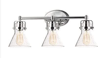 Home Decorators Collection 3 Light Brushed Nickel Retro Vanity Light Amazon Com
