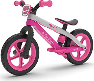 Chillafish Bmxie 2, BMX Styled Balance Bike with Integrated Footrest, Footbrake & Airless Rubberskin Tires, Pink