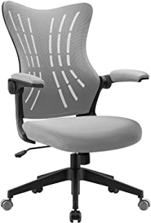 Furmax Office Desk Chair with Flip Arms,Mid Back Mesh Computer Chair Swivel Task Chair with Ergonomic with Lumbar Support ...