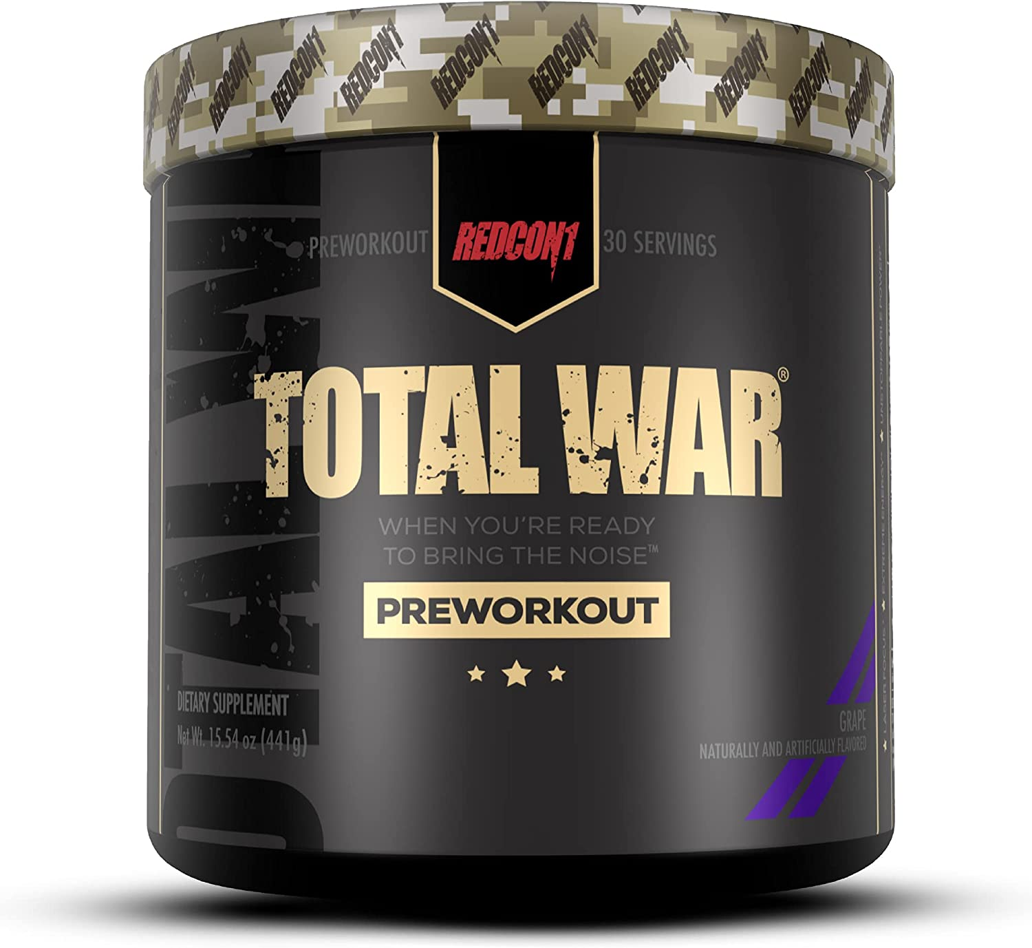 Redcon1 Total War - store Pre Workout Servings 30 Incr Energy Boost Virginia Beach Mall