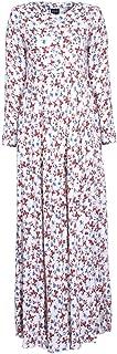 EDZ Women's Floral Print Modest Maxi Dress