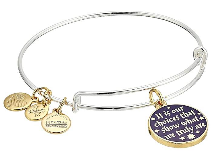 4f93973b6 Alex and Ani Harry Potter It's Our Choices Bangle Two-Tone at Zappos.com