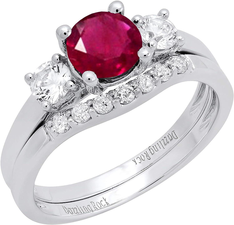 Indefinitely Dazzlingrock Collection 10K Fort Worth Mall 6 MM Di Lab Created Gemstone Round