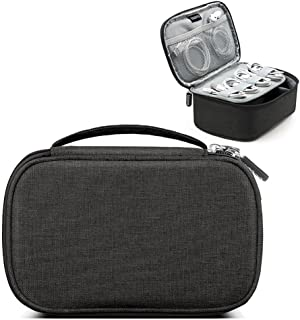 Double Layer Travel Electronic Accessories Cable Organizer Bag AOLVO Portable Case SD Cards Flash Drives Wires Earphones S...
