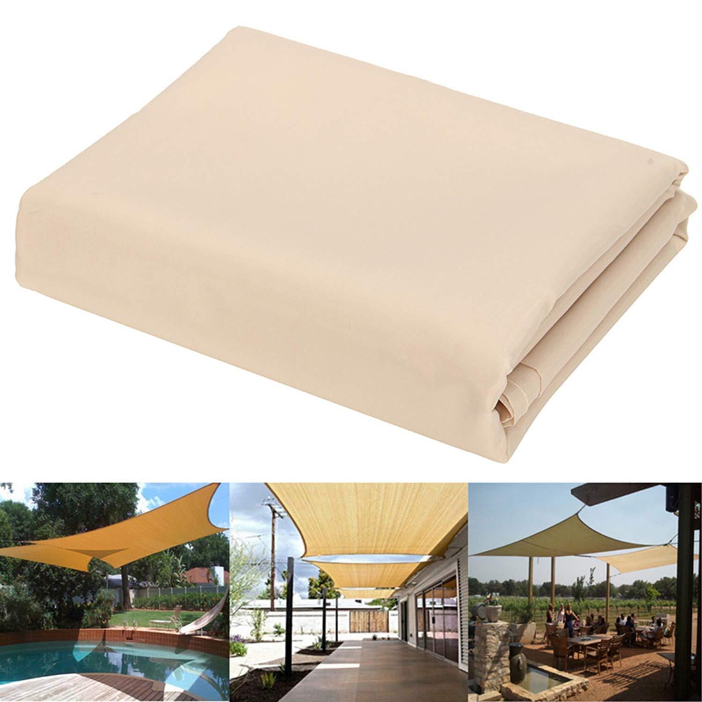 Qdreclod Toldo Vela de Sombra para Patio, Impermeable a Prueba de Viento Toldo de Refugio Canopy Vela protección UV para Exteriores Jardín Terraza (2x3m, Sand): Amazon.es: Jardín