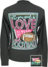 Girlie Girls All You Need is Love and Football Long Sleeve T-Shirt