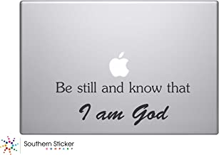 Be Still and Know That I Am God Bible Verse Vinyl Car Sticker Symbol Silhouette Keypad Track Pad Decal Laptop Skin Ipad Macbook Window Truck Motorcycle