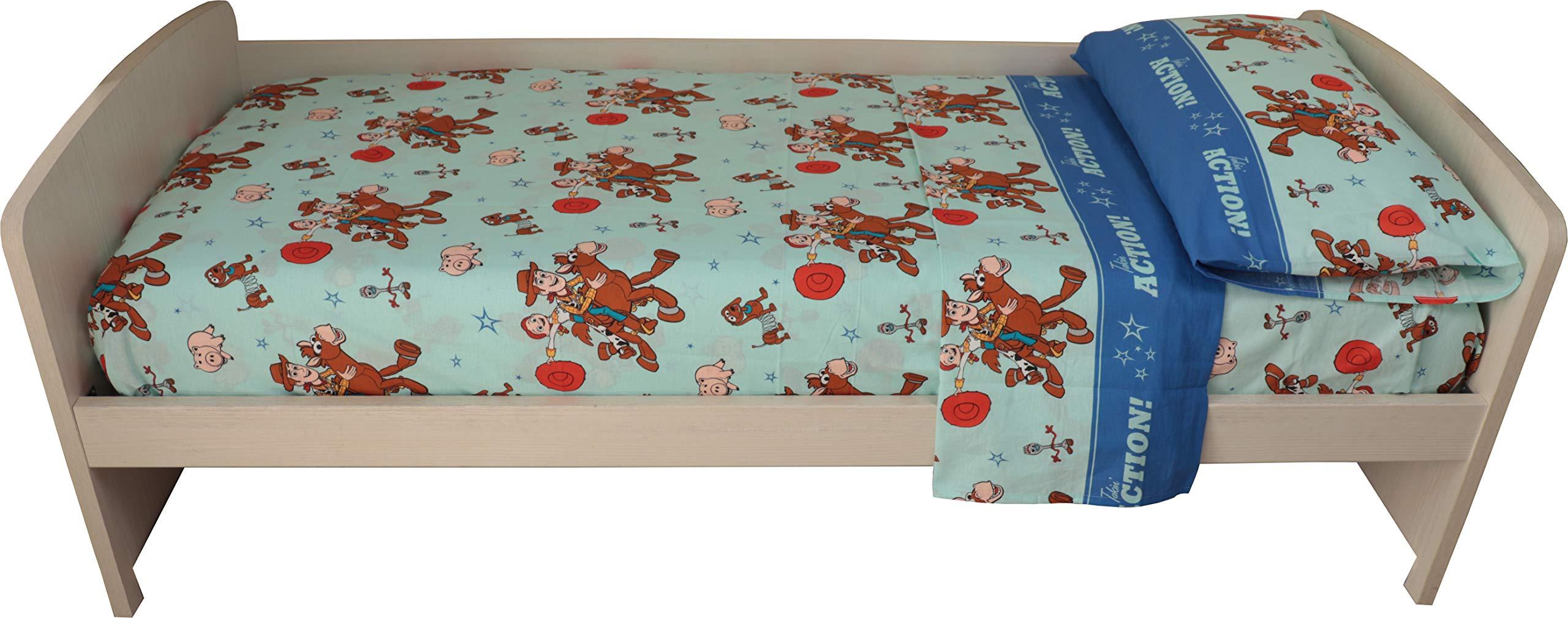Disegno Minnie Mouse Topolina Made in Europe KISENE Disney Completo per Letto Singolo in Puro Cotone