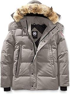 [カナダグース] CANADA GOOSE Men`s Wyndham Slim Fit Genuine Coyote Fur Trim Down Jacket メンズパーカー [Limestone] [並行輸入品]
