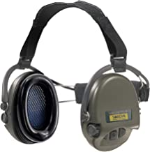 Sordin Supreme PRO X Neckband Safety Ear Muffs - Perfect for Helmets - Foam Ear Seals with SNR: 25dB - Green - 76302-X